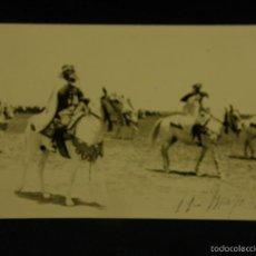 Postales: POSTAL FOTOGRÁFICA CAMPAÑA RIF MILITARES NORTE AFRICA FANTASIA CORNETA CABALLERÍA CABALLOS 1930 . Lote 58326126