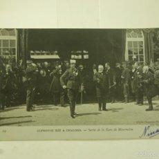 Postales: ALFONSO XIII A CHALONS FOTOGRAFICA CIRCULADA Y FRANQUEADA 1905. Lote 60073187