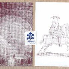 Postales: GUERRA DE SUCESSIÓ - CAVALLERIA CATALANA SOLDAT 1714 - CONSELL DE CENT - SIRIUS - 2 POSTALS. Lote 60632019