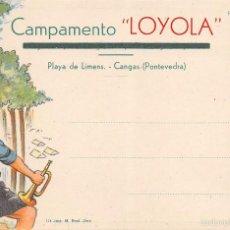 Postales: CAMPAMENTO LOYOLA.- PLAYA DE LIMENS.- CANGAS (PONTEVEDRA). Lote 60835251