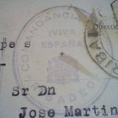 Postales: POSTAL CIRCULADA SELLO REPUBLICA GUERRA CIVIL MATASELLOS COMANDANCIA RIBADEO VIVA ESPAÑA CIRCULADA . Lote 60882627