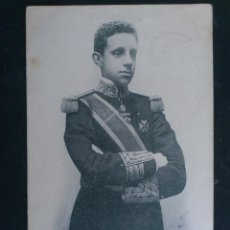 Postales: S. M. D. ALFONSO XIII - REY DE ESPAÑA, 15 DE MAYO 1902, FOTO LAURENT MADRID, CIRCULADA. Lote 62299804