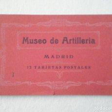 Postales: MUSEO DE ARTILLERIA MADRID BLOCK 12 POSTALES PP. SIGLO XX // HAUSER Y MENET // COMPLETO // MILITAR . Lote 63088632