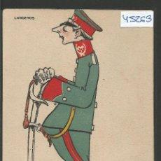 Postales: POSTAL ANTIGUA - LANCEROS -COLECCION ALMOGUERA SERIE B -VER REVERSO-(ZG-45.263). Lote 65941434