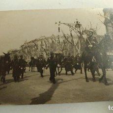 Postales: POSTAL. FOTO DESFILE MILITAR EN EL PASEO DE GRACIA DE BARCELONA. MARZO 1916. Lote 67419201