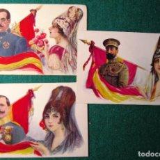 Postales: 3 POSTALES MILITARES. SANJURJO, NAVARRO Y SILVESTRE. Lote 68757173