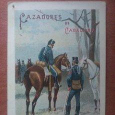 Postales: CAZADORES DE CABALLERIA - SATURNINO CALLEJA, TARJETA POSTAL ARTISTICA ESPAÑOLA, SIN DIVIDIR. Lote 68897313