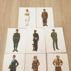 Postales: ANTIGUO LOTE DE 9 POSTALES DE SALAS DEL PROGRAMA ACTOS SEMANA FUERZAS ARMADAS DE 1981. Lote 72241723