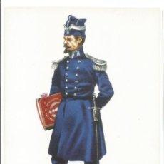 Postales: CAPITAN INGENIEROS UNIFORME DE CUARTEL 1850 EJERCITO ESPAÑOL - POSTAL UNIFORME MILITAR. Lote 74724307