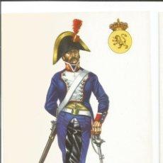 Postales: SOLDADO DE CABALLERIA DE LINEA REGIMIENTO DEL REY 1804 EJERCITO ESPAÑOL - POSTAL UNIFORME MILITAR. Lote 74742083