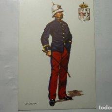 Postales: TARJETA POSTAL MILITAR 1893 JEFE BATALLON INFANTERIA FILIPINAS RGTO.PRINCIPE 3-DIBUJO SALAS. Lote 78154345