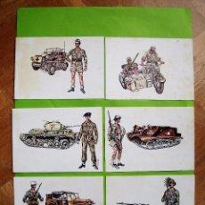 Postales: LOTE 6 POSTALES DE MILITARES. CÍRCULO DE AMIGOS DE LA HISTORIA. 1975.. Lote 82101544