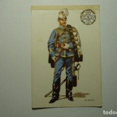 Postales: POSTAL MILITAR -DIBUJO SALAS - ESPAÑA 1885 HUSARES PRICESA GALA. Lote 83545132