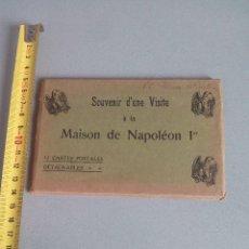 Postales: ESPECTACULAR LIBRITO DE 12 TARJETAS POSTALES DE LA MAISON DE NAPOLEÓN CON EL NOMBRE DE Mª CRISTINA. Lote 84777280
