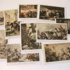 Postales: COLECCIÓN COMPLETA DE 10 POSTALES CON EPISODIOS DE LA GUERRA DE LA INDEPENDENCIA. Lote 86217392