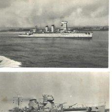 Postales: POSTALES BARCOS DE GUERRA ARCHIVO E.M. ARMADA 1943. Lote 86993300