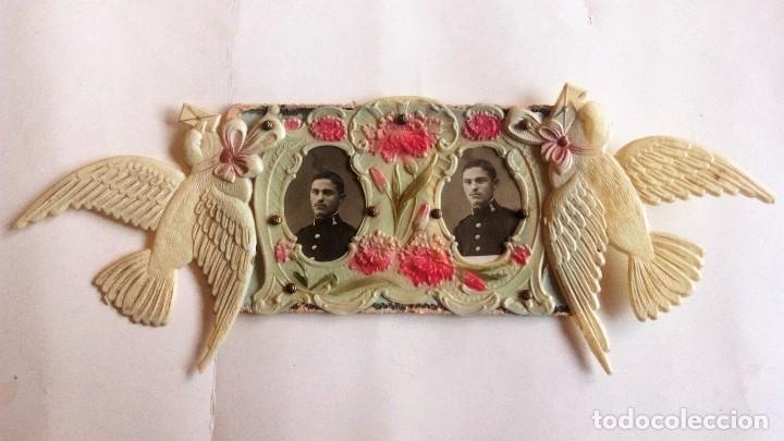 POSTAL TROQUELADA, FOTOGRAFIAS SARGENTO RECIEN ASCENDIDO, 1914 (Postales - Postales Temáticas - Militares)