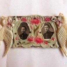 Postales: POSTAL TROQUELADA, FOTOGRAFIAS SARGENTO RECIEN ASCENDIDO, 1914. Lote 87175640