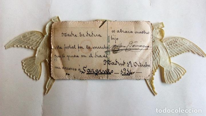 Postales: POSTAL TROQUELADA, FOTOGRAFIAS SARGENTO RECIEN ASCENDIDO, 1914 - Foto 2 - 87175640