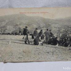 Postales: DESCANSO EN EL CAMPO DE INSTRUCCION, EPOCA ALFONSO XIII. Lote 87284408