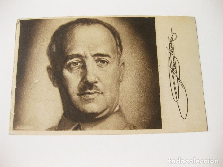 POSTAL DEL GENERALISIMO FRANCO IMPRESA POR PRENSA Y PROPAGANDA DE FALANGE ESPAÑOLA (Postales - Postales Temáticas - Militares)