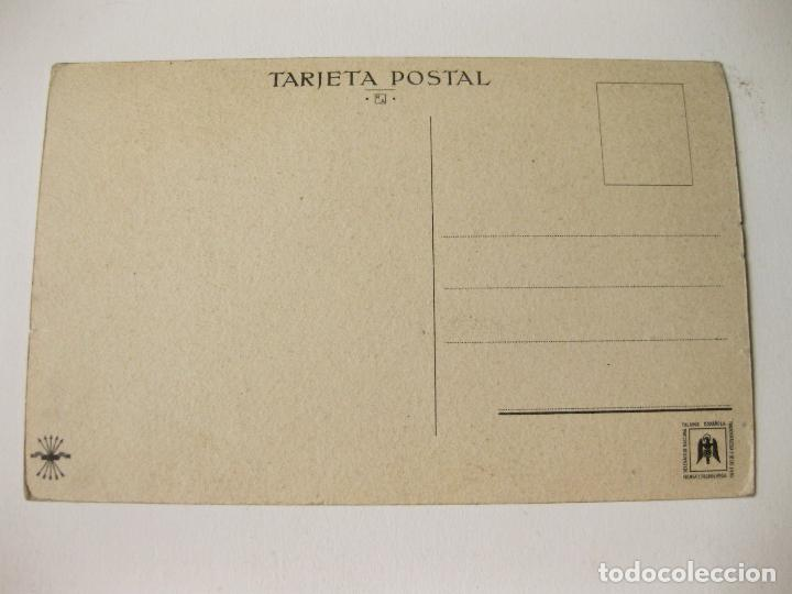Postales: POSTAL DEL GENERALISIMO FRANCO IMPRESA POR PRENSA Y PROPAGANDA DE FALANGE ESPAÑOLA - Foto 2 - 87895408