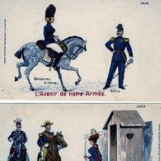 Postales: TRES POSTALES-TITULO =EL FUTURO DE NUESTRAS ARMAS=NUEVA SIN CIRCULAR-VER FOTO ADICIONAL DEL REVERSO.. Lote 91319350