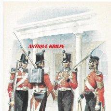 Postales: THE ROYAL MARINES , LIGHT INFANTRY 1855 .- Nº 63 STADDEN UNIFORM CARD. Lote 92200030
