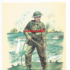 Postales: ROYAL MARINES LANDING CRAFT DECKHAND D DAY 1944 .- Nº 70 STADDEN UNIFORM CARD. Lote 92205070