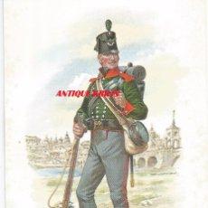 Postales: 5TH BATTALION , THE 60TH LIGHT INFANTRY 1812 .- Nº BMU 2 RIFLEMAN.- STADDEN UNIFORM CARD. Lote 92267775