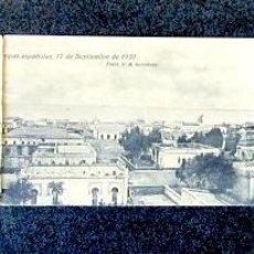 Postales: POSTAL TRIPLE. VISTA GENERAL PANORÁMICA DE NADOR EL DÍA DE LA OCUPACIÓN POR TROPAS ESPAÑOLAS. 1921. . Lote 94067820