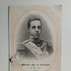 Postales: ANTIGUA POSTAL DE LA VISITA OFICIAL DE ALFONSO XIII REY DE ESPAÑA A PARIS EN 1905 DONDE SUFRIO UN IN. Lote 95772887