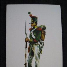 Postales: POSTAL - CABO DE INFANTERIA LIGERA DEL RGTO. DE CAZADORES DEL REY - Nº 1 - 1830.. Lote 96244491