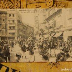 Postales: ACADEMIA DE INFANTERÍA. Nº 26. SALIDA PARA EL CAMPAMENTO. 1912. PELÁEZ. TOLEDO.. Lote 96811991