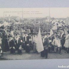 Postales: POSTAL ACADEMIA DE INFANTERIA, CURSO 1912-13 : BOY SCOUT EN EL CAMPAMENTO . GABINETE FOTOGRAFICO. Lote 97261939