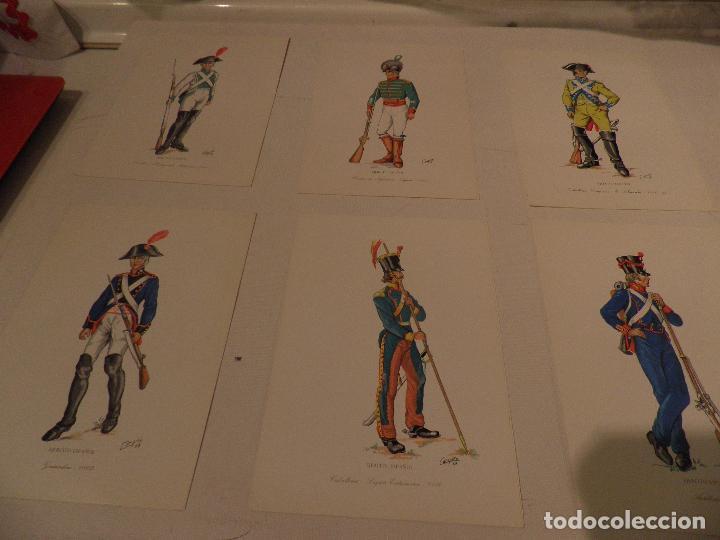 Postales: LOTE 16 POSTALES UNIFORMES MILITARES , AÑO 1969, SERVICIO GEOGRAFICO DEL EJERCITO - Foto 2 - 98031607