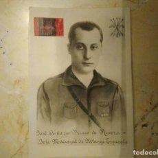 Postales: JOSÉ ANTONIO PRIMO DE RIVERA. JEFE NACIONAL DE FALANGE ESPAÑOLA.. Lote 98803147