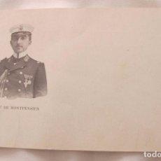 Postales: DUQUE DE MONTPENSIER UNIFORME ARMADA MARINA ESPAÑOLA 1904 POSTAL ANTIGUA. Lote 100088927