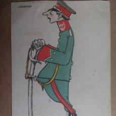 Postales: POSTAL DE MILITAR DE DIARIO, COLECCION ALMOGUERA, SERIE B. LANCEROS. Lote 100165439