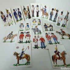 Postales: UNIFORMES DE LA BATALLA DE TALAVEEA 28 DE JULIO DE 1809. Lote 101986283