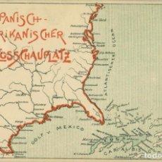 Postales: MILITAR. GUERRA DE CUBA Y PUERTO RICO. CIRCULADA EN 1898 EN ALEMANIA. POSTAL RARÍSIMA.. Lote 102725515