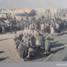Postales: LOS MOROS CELEBRANDO LA FIESTA DEL XERIFE EN LA PLAZA DE ESPAÑA EN TETUÁN.. Lote 102812959