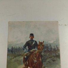Postales: POSTAL. SOLDADO DE CABALLERIA. JOSEP CUSACHS. AÑO DEL CUADRO 1902 POSTAL DE LA EPOCA. BARCELONA. Lote 103306099