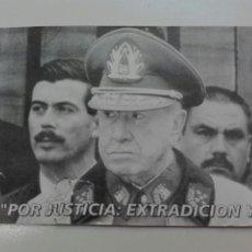 Postales: PINOCHET POR JUSTICIA EXTRADICION YA TARJETA POSTAL. Lote 102568016
