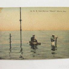 Postales: ANTIGUA POSTAL DEL SUBMARINO AMERICANO SHARK. U. S. S. SUB-MARINE SHARK MAINLA BAY. Lote 103712031