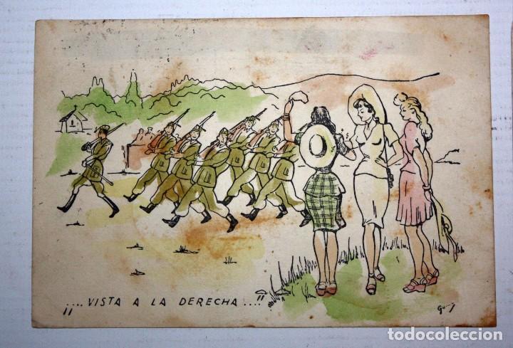 Postales: LOTE DE 4 ANTIGUAS POSTALES ILUSTRADAS. MILITAR. CIRCULADAS - Foto 2 - 105159035