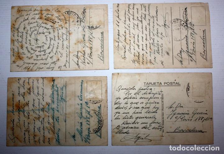 Postales: LOTE DE 4 ANTIGUAS POSTALES ILUSTRADAS. MILITAR. CIRCULADAS - Foto 6 - 105159035