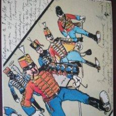 Postales: CABALLERÍA. N° 4. HÚSARES DE PAVÍA. CIRCULADA EN 1908... Lote 105897695