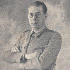 Postales: GENERAL MOLA. POSTAL BLANCO Y NEGRO, ESCRITA AL REVERSO. ZARAGOZA, C. 1937. Lote 106594243