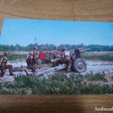 Postales: OBUSIER DE 105 MM.EN POSITION DE TIR CIRCULADA 1958. Lote 106757819